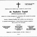 Szabolcs Árpád gyászjelentés