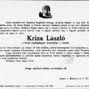 Szabolcs József - Kriza László