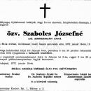 Szabolcs Józsefné gyászjelentés